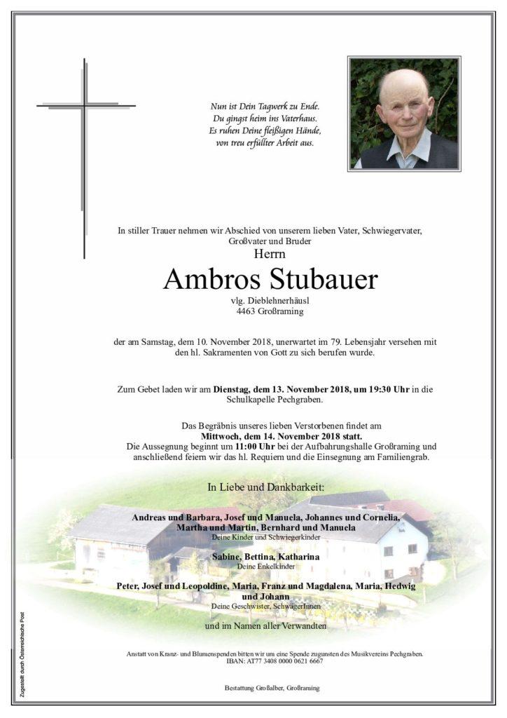 Ambros Stubauer