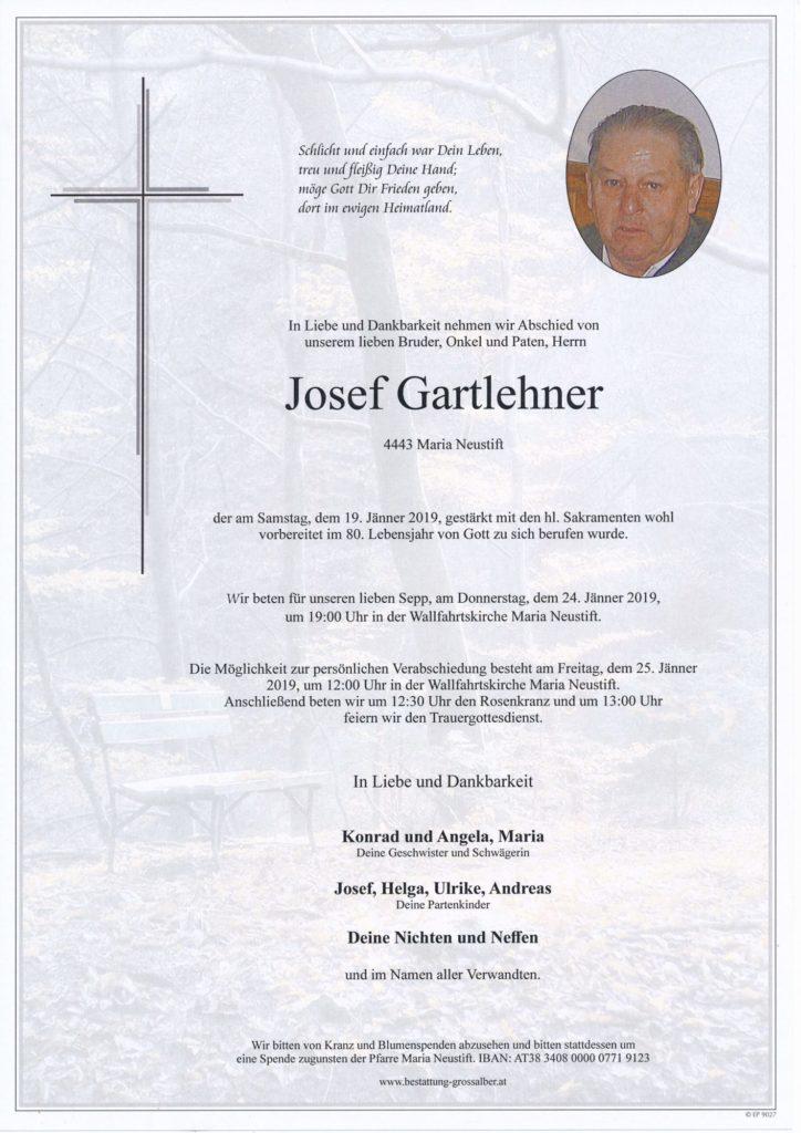 Josef  Gartlehner