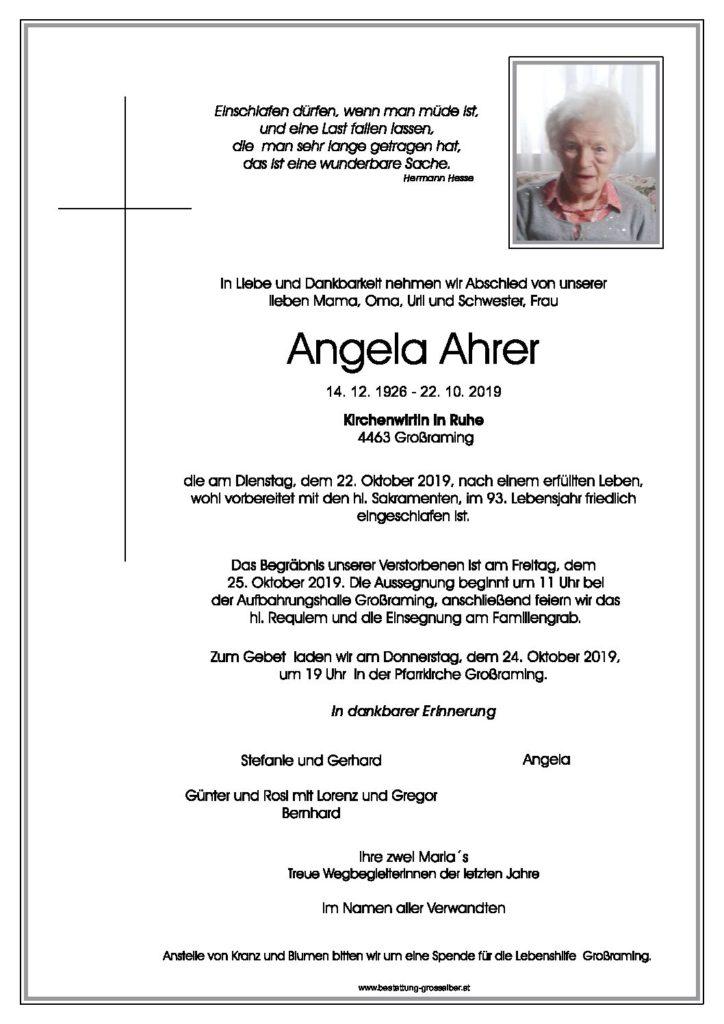 Angela  Ahrer