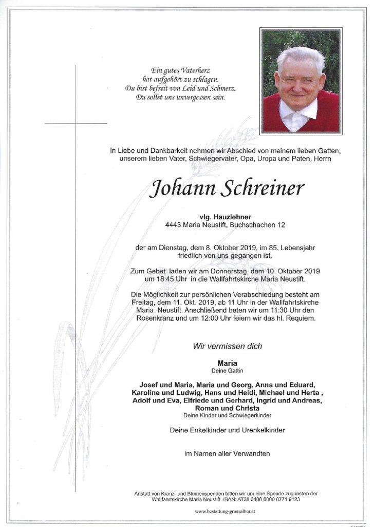 Johann Schreiner