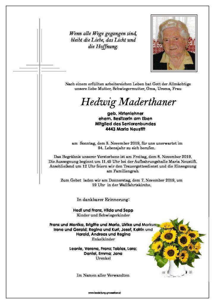 Hedwig Maderthaner