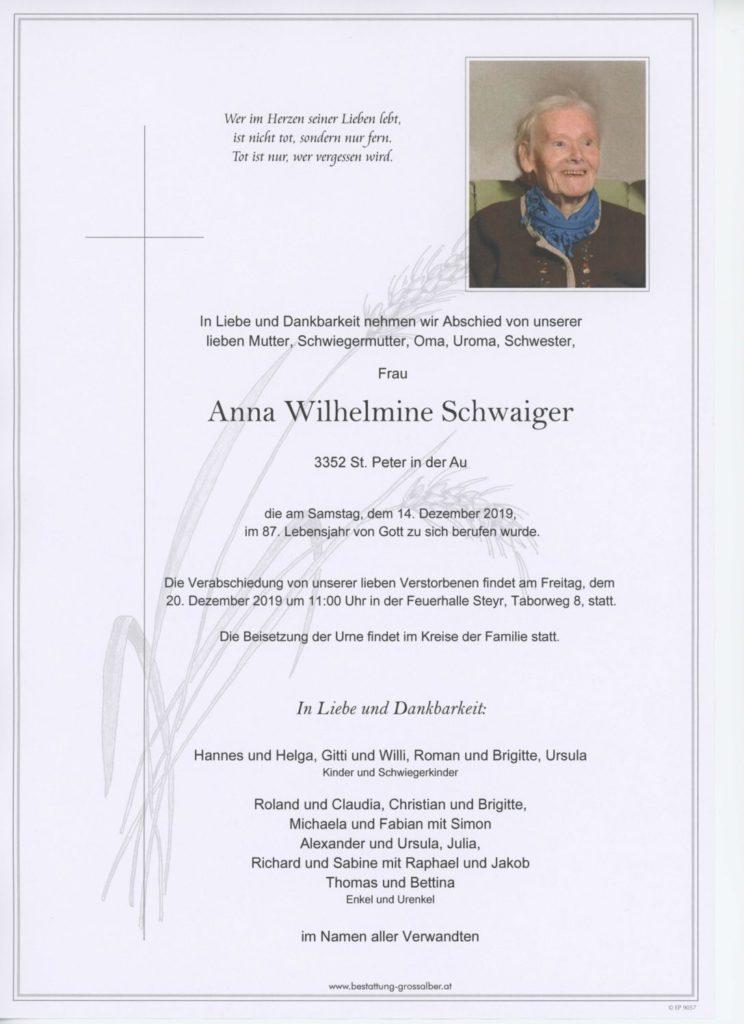 Anna Wilhelmine Schwaiger