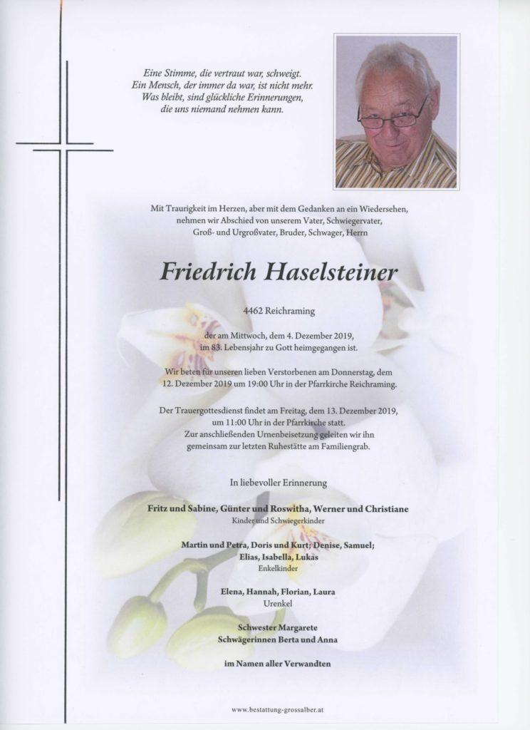 Friedrich Haselsteiner