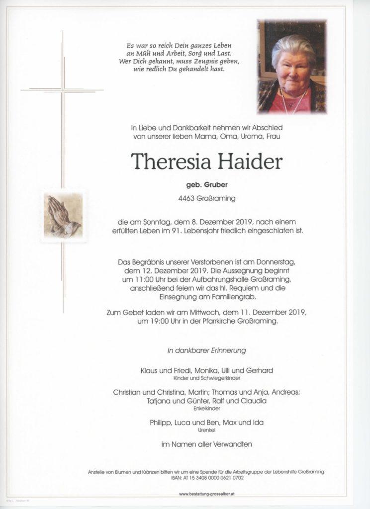 Theresia  Haider