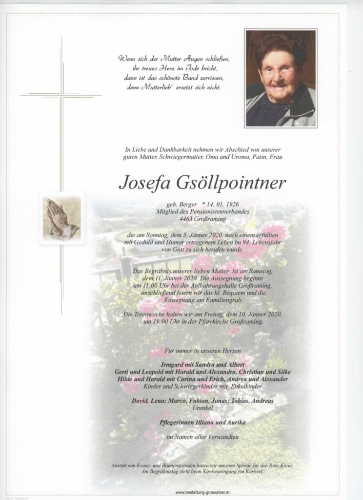 Josefa  Gsöllpointner