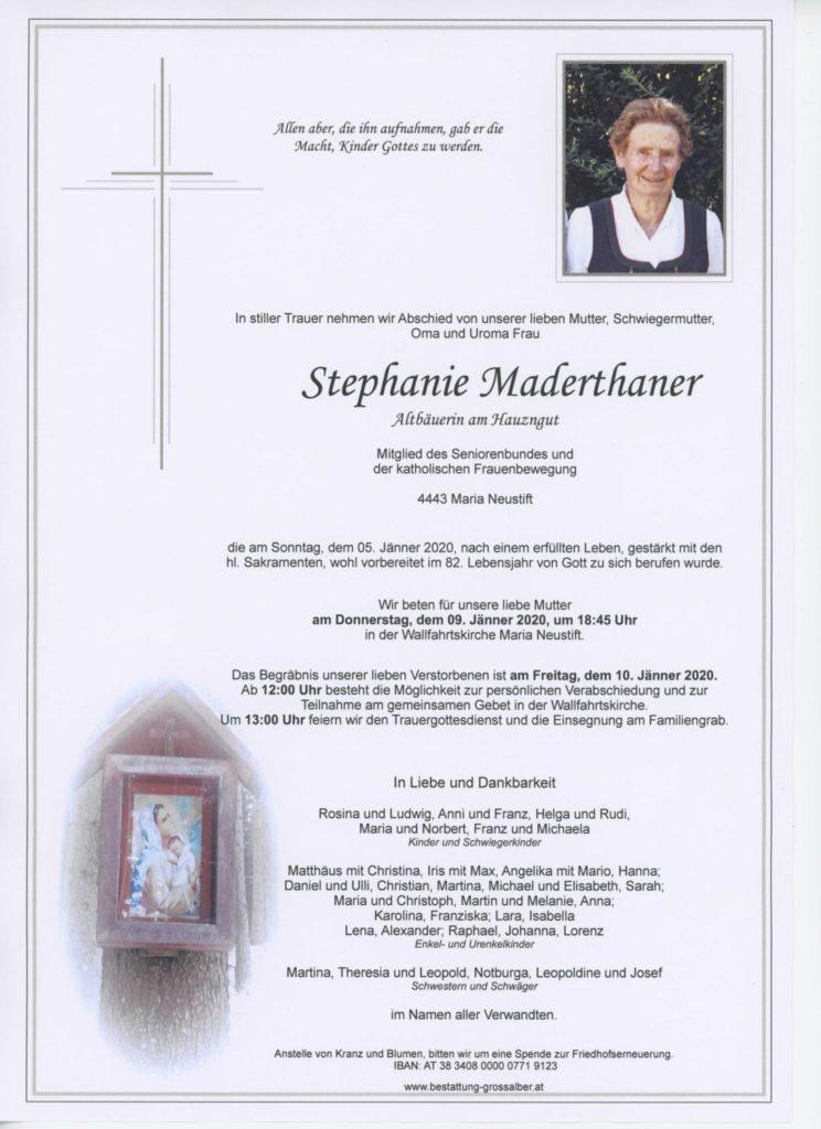 Stephanie Maderthaner