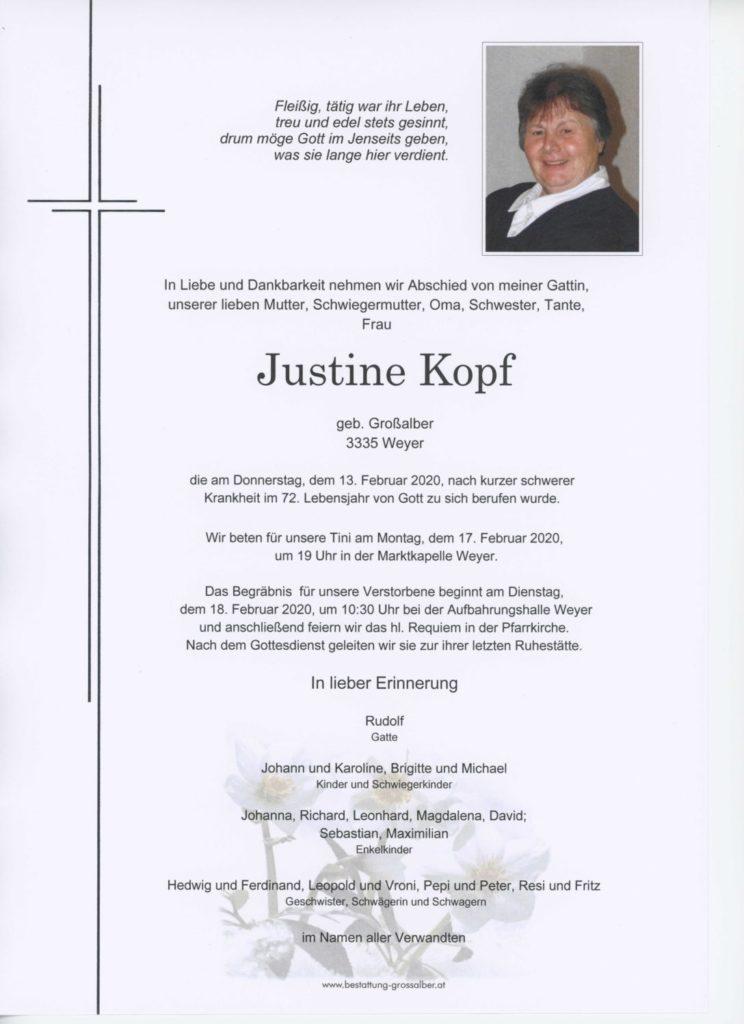 Justine Kopf