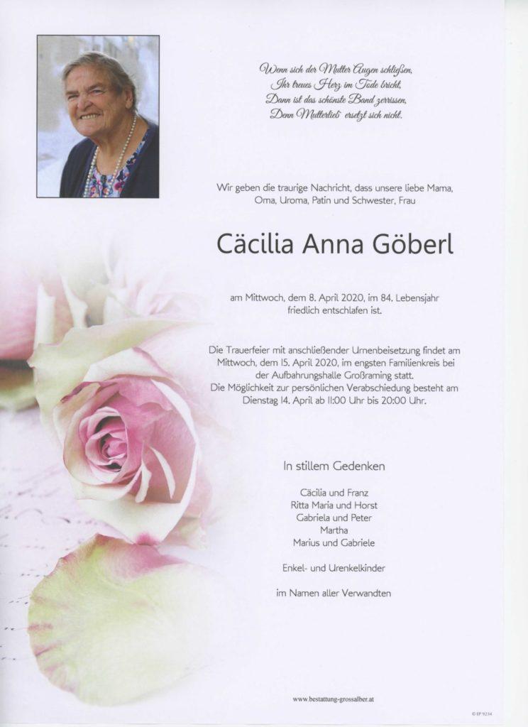 Cäcilia Anna  Göberl