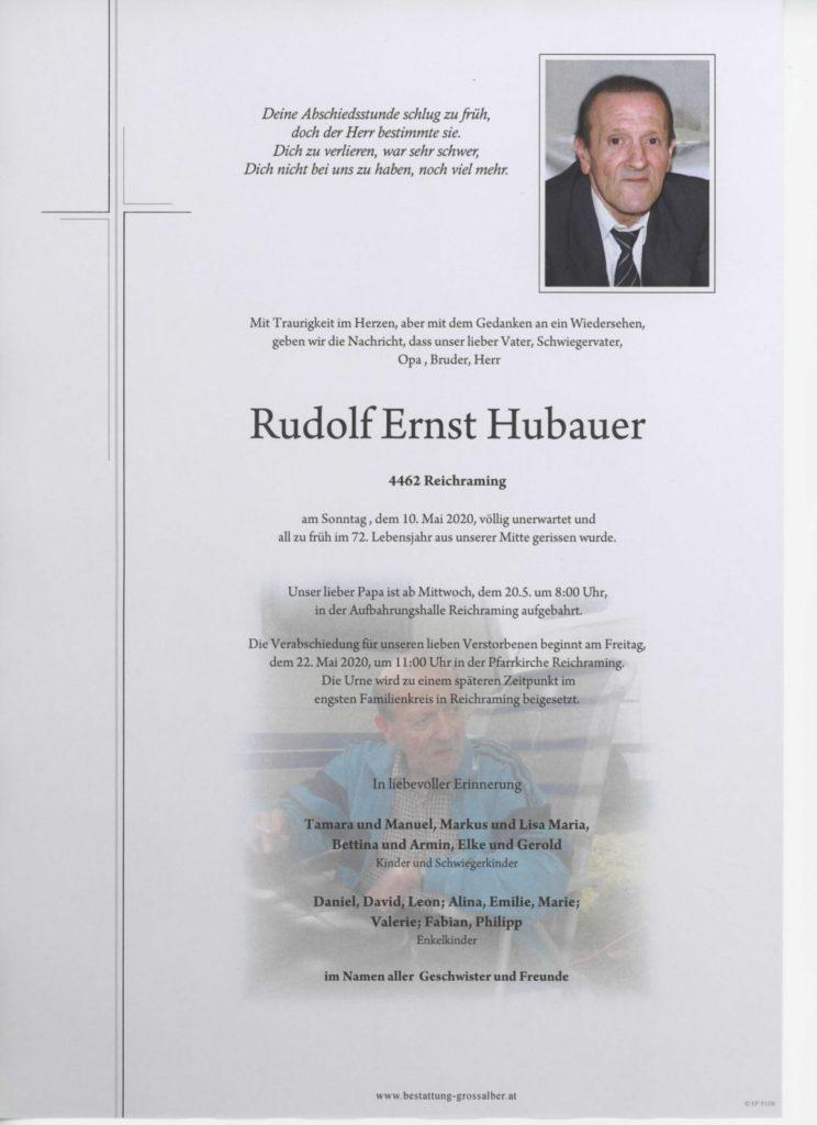 Rudolf Ernst Hubauer