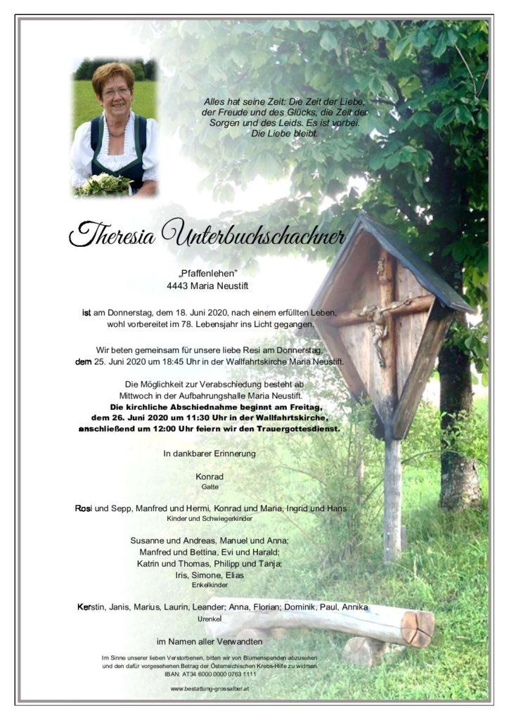 Theresia Unterbuchschachner
