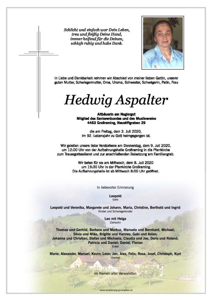 Hedwig Aspalter