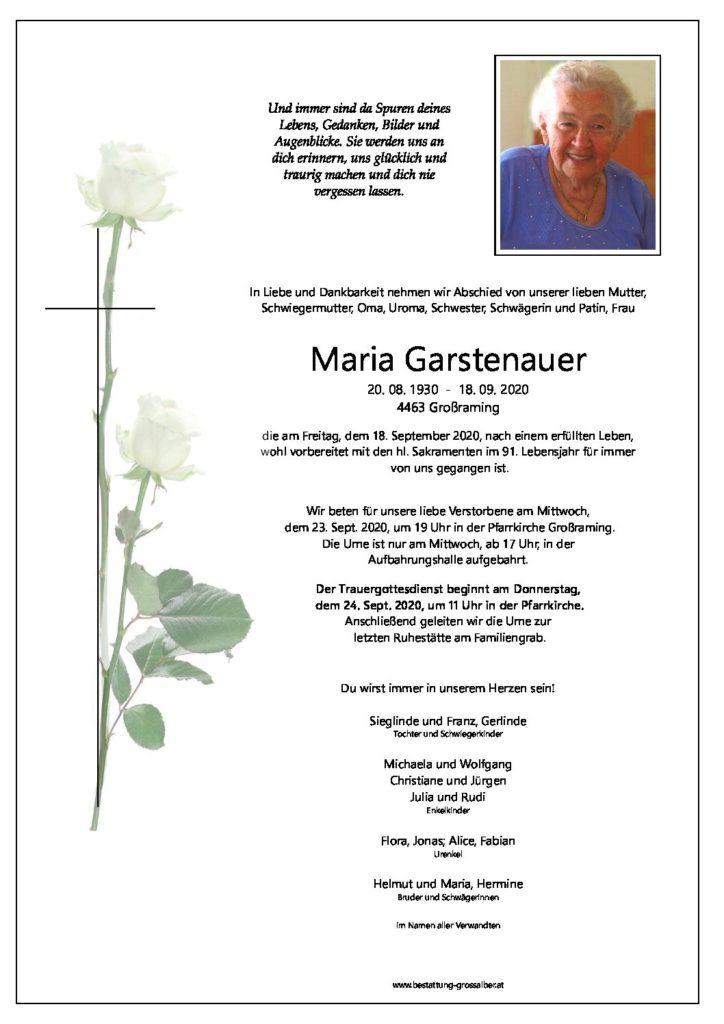 Maria Garstenauer
