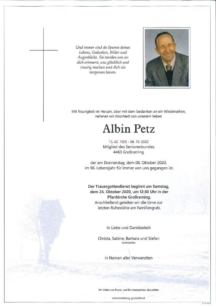 Albin Petz