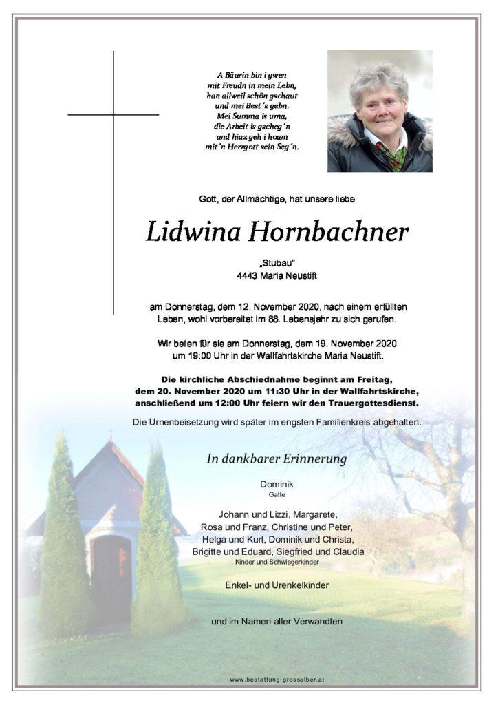 Lidwina Hornbachner