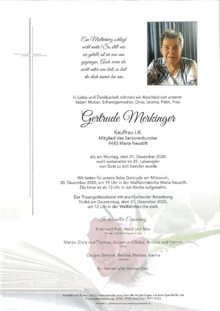 Gertrude  Merkinger