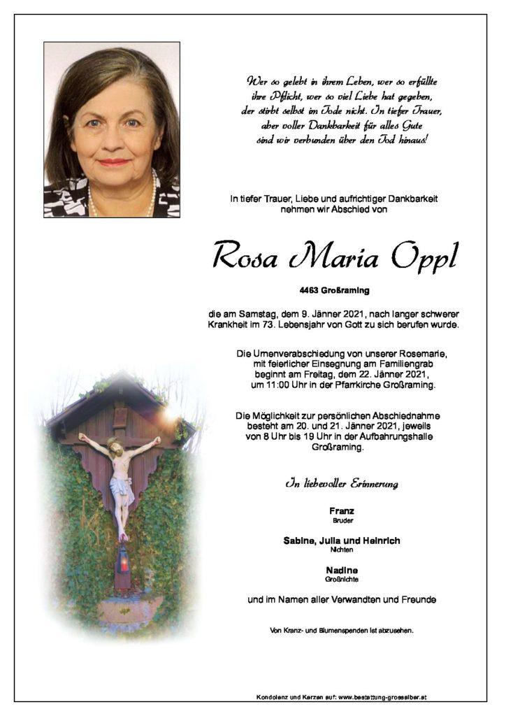 Rosa Maria  Oppl