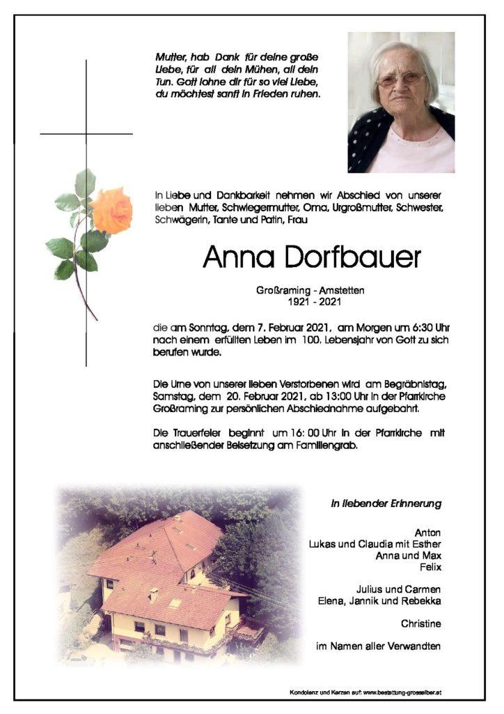 Anna Dorfbauer