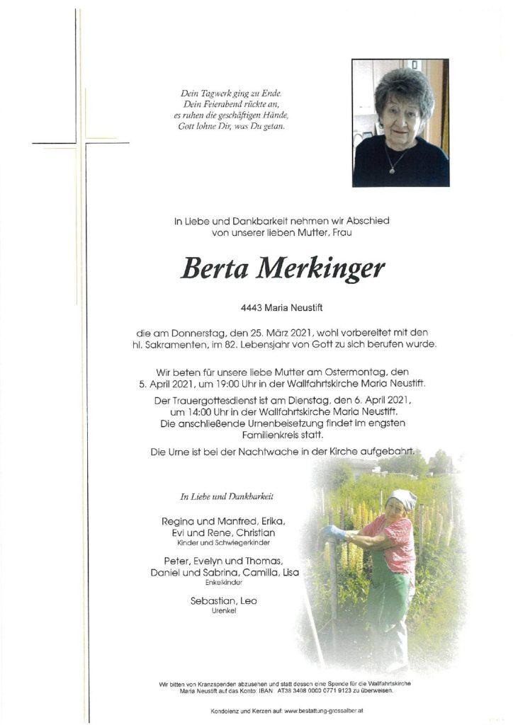 Berta Merkinger