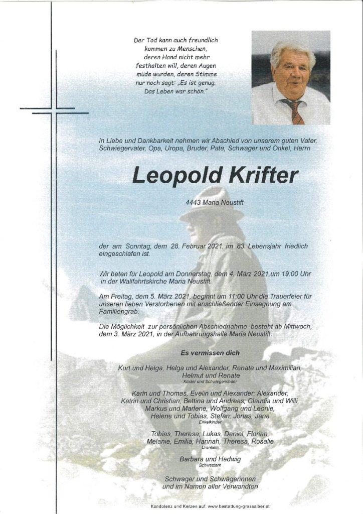 Leopold Krifter