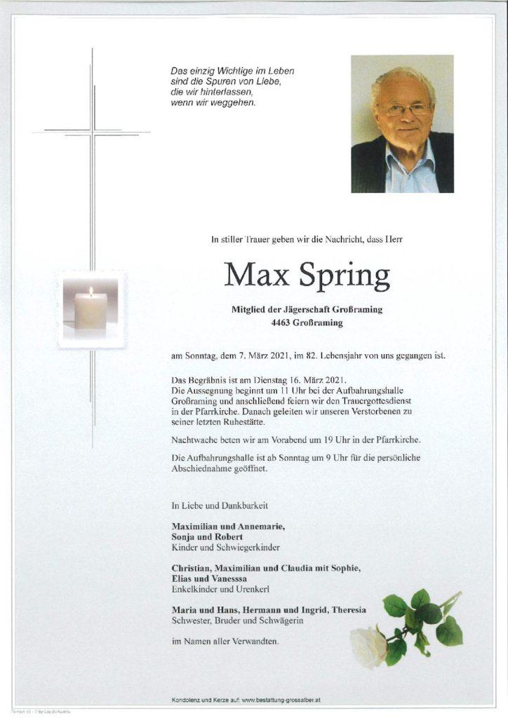 Max Spring