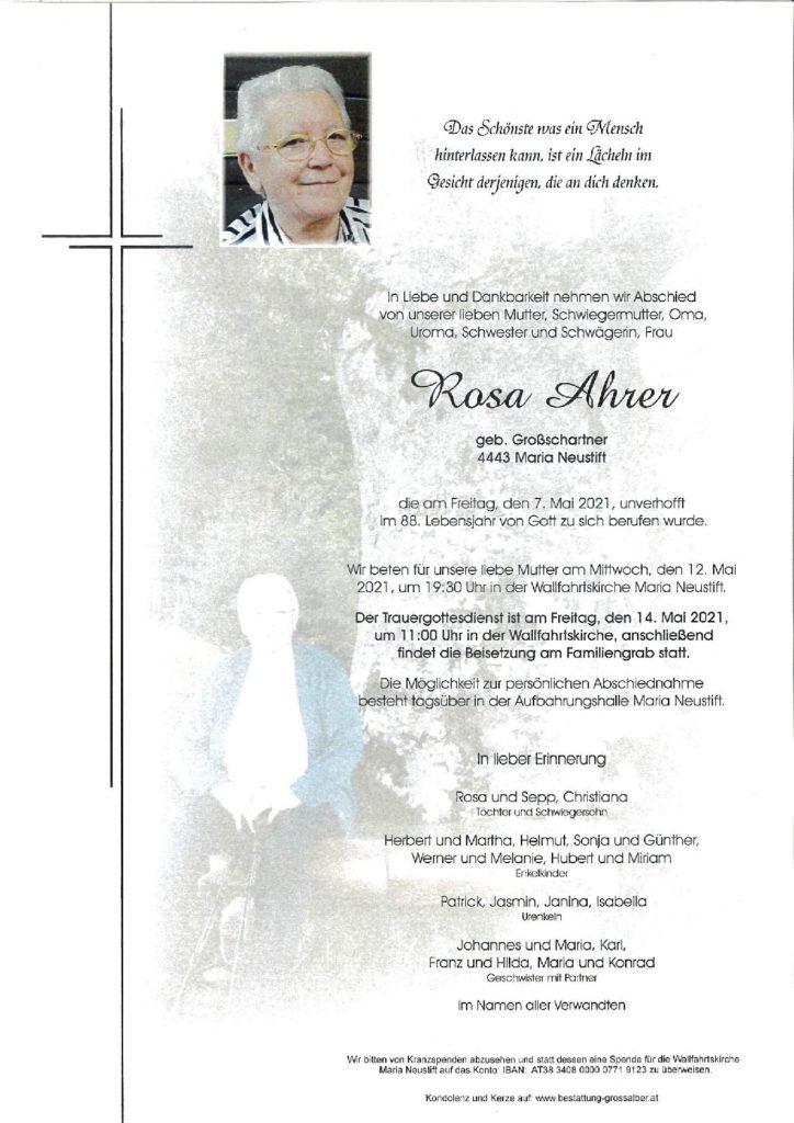 Rosa Ahrer