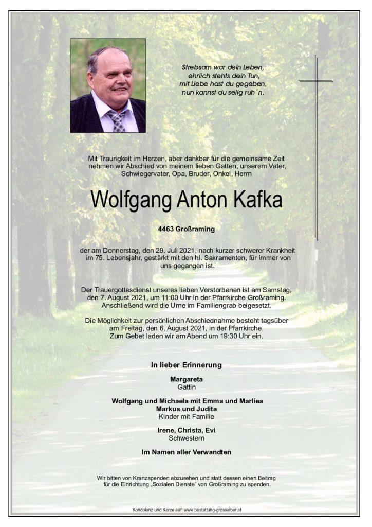 Wolfgang Anton  Kafka