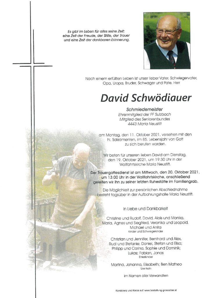 David Schwödiauer